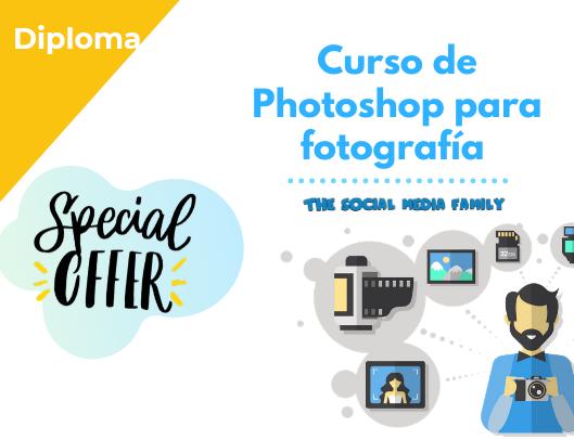 Diploma del Curso de edición de imágenes para redes sociales con Photoshop