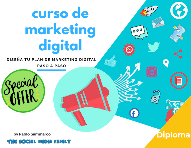 Diploma del Curso de Marketing Digital