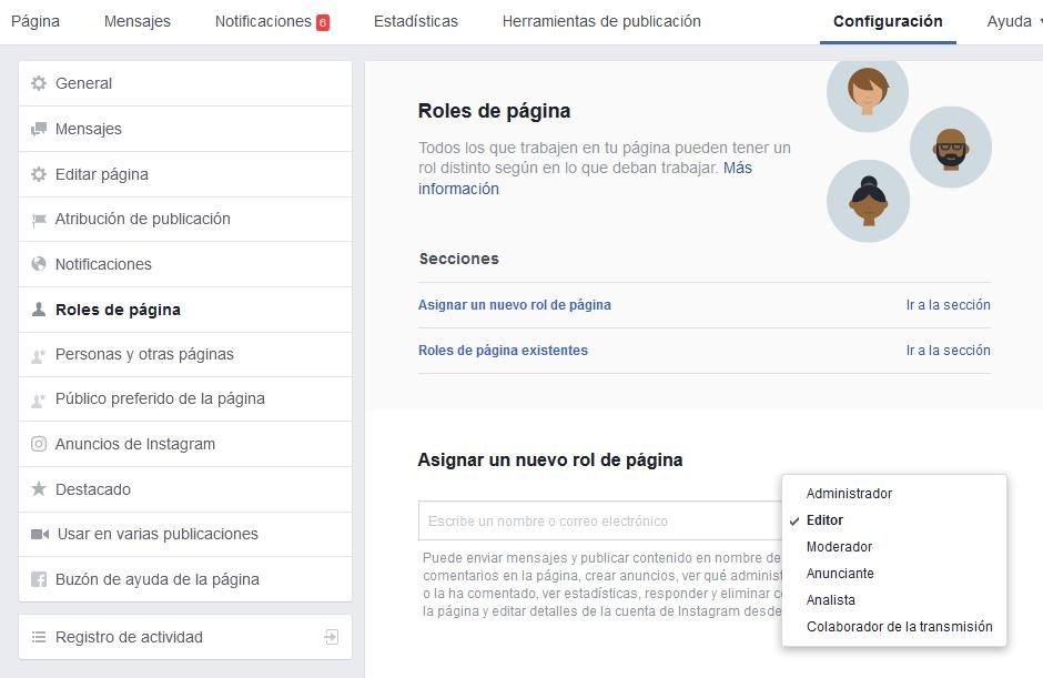 Acceso a terceros de Facebook
