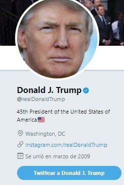 Perfil Donald Trump