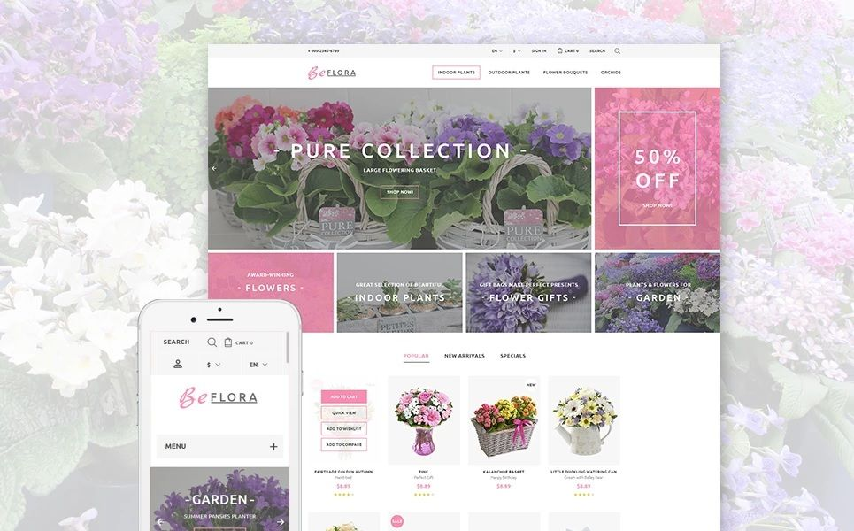 Plantilla PrestaShop para floristerías online