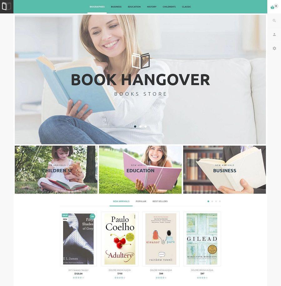 Plantilla PrestaShop para librerías
