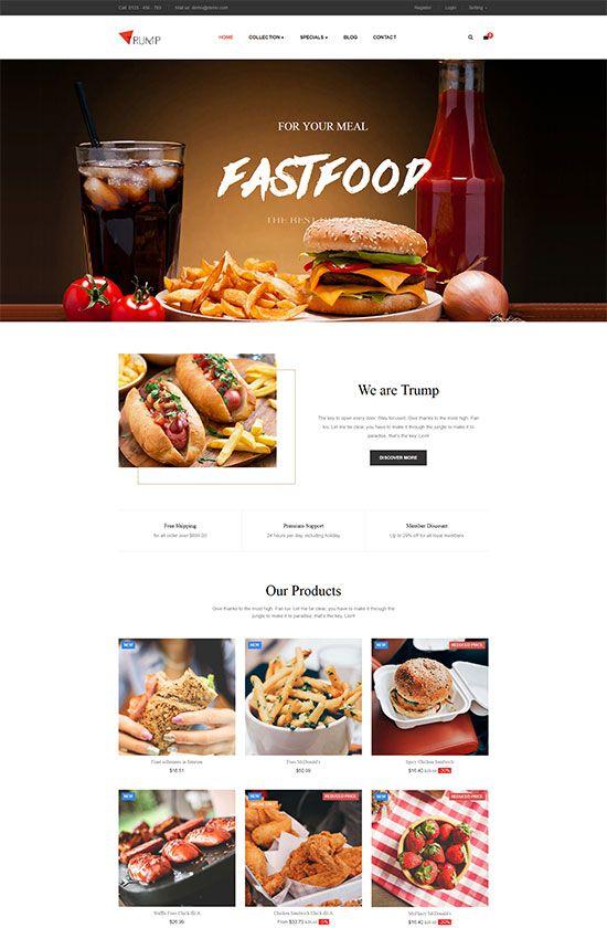 Plantilla PrestaShop para restaurantes