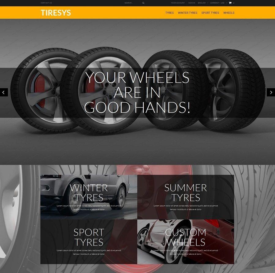 Plantilla PrestaShop para tiendas de neumáticos